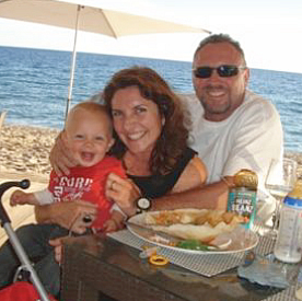 Michael and Janine Bowmaker, with son Jackson